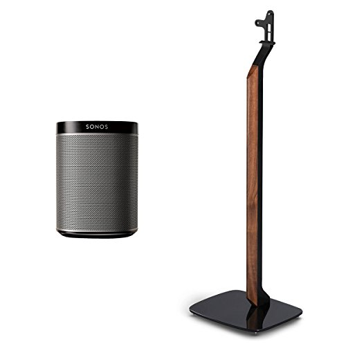 Sonos PLAY:1 All-In-One Wireless Music Speaker with Flexson Premium Floor Stand (Black) by Sonos