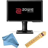 BenQ ZOWIE 24-Inch 1080p LED Full HD 144Hz Gaming Monitor, XL-Series (XL2411), Invisiplug 6-Outlet Surge Protector and Micro Fiber Cleaning Cloth