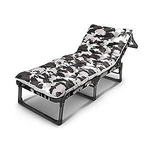 NYDZDM Lettino Prendisole reclinabile Giardino Esterno terrazza Posto Letto per Gli Ospiti (Color : T3) 2 spesavip
