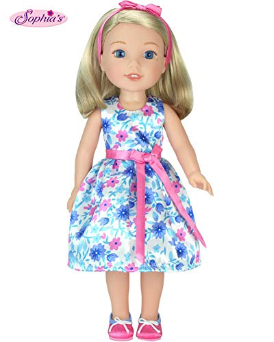 14 Inch Doll Clothes/Clothing,14 Inch Doll Dress with Shoes by Sophia