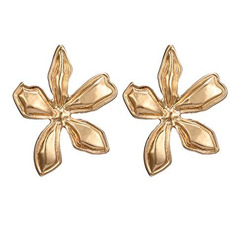 GoodLock(TM) Clearance Sale  Petal Earrings  Fashion Simple Metal Flower Three-Dimensional Jewelry Gifts for Women Ladies Girlfriend ()
