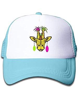 Punk Giraffe On Boys and Girls Trucker Hat, Youth Toddler Mesh Hats Baseball Cap