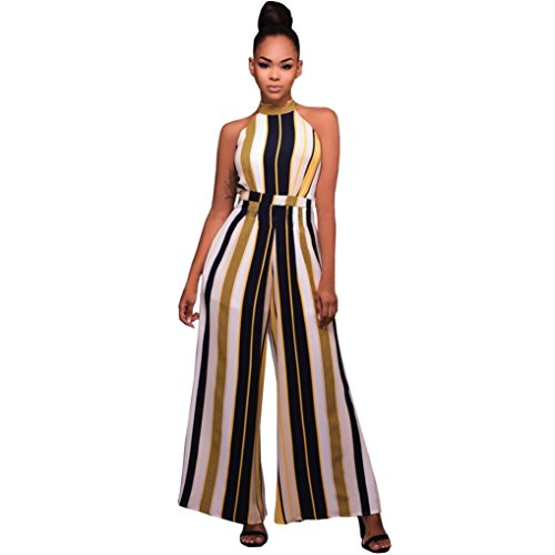 Used, VEZAD Turtleneck Stripes High Waist Flared Jumpsuits for sale  Delivered anywhere in USA
