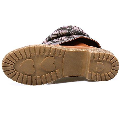 BIGTREE Casual Comfortable Boots Riding Flat Autumn High Boots Women Strap Yellow Zipper Winter Knee qrftrpgw