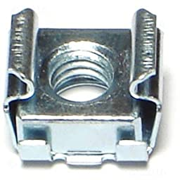6mm x .635 - 1.60 Cage Nut (10 pieces)