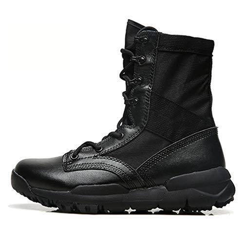 URNICE レディース Z.SUOレザーブーツレディースおしゃれトレッキングシューズブラック安全靴ハイカット23CM登山靴快適
