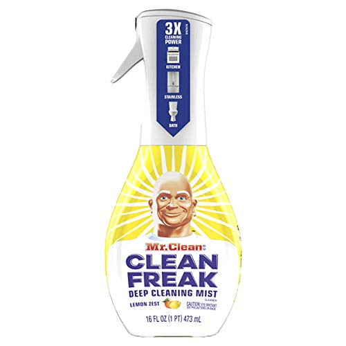 Mr. Clean Freak Deep Cleaning Mist Multi-Surface Spray Lemon Zest Bundle, 1 Starter + 1 Refill by Mr Clean Freak (Image #2)