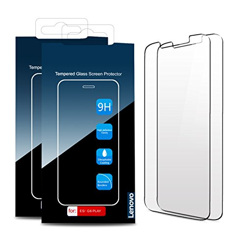 [2-Pack] Moto G6 Play Screen Protector, Lenovo Original Tempered Glass Screen Protector, Anti-Scratch, Anti-Fingerprint, Bubble-Free,Ultra Clear for Motorola Moto G6 Play