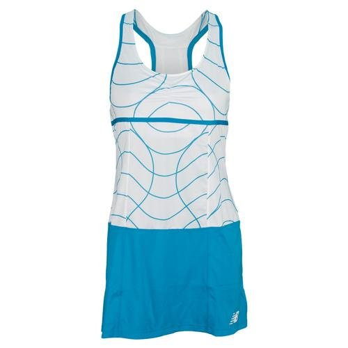 New Balance Womens Printed Montauk Dress, Sunny Lime, X-Small