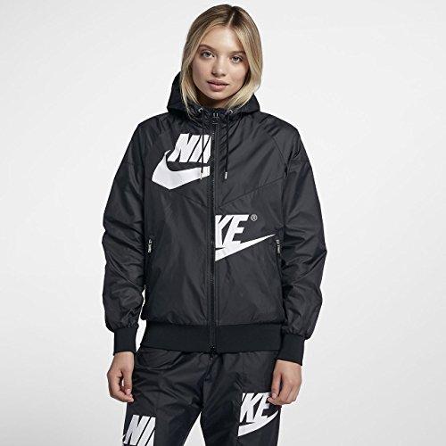 Nike Womens W Nsw Wr Jkt Gx Aj2974 Nero / Nero / Ossidiana / Bianco