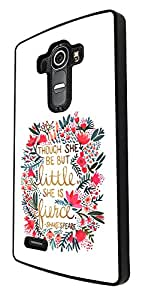 Floral Shabby Chic shakespeare quotes though she be but little she is fierce 214 Design LG G4 Fashion Trend Cool Case Back Cover Plastic & Metal