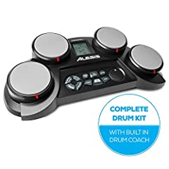 The Perfect Kit For The Aspiring DrummerThe Alesis CompactKit 4 is a tabletop electronic drum kit with everything a young drummer needs to sharpen their skills on their way to drumming stardom! Four velocity-sensitive drum pads deliver realis...