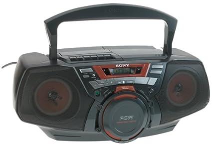 0137b4f4635 Amazon.com  Sony Portable 1-Piece AM FM CD Cassette Boombox (CFDGT50 ...