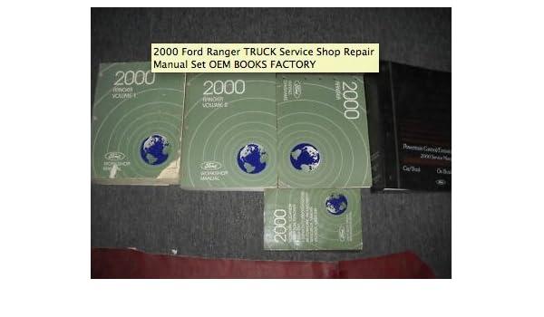 2000 ford ranger truck service shop repair manual set oem books rh amazon com Ford Ranger Repair Diagrams Ford Ranger Differential Repair