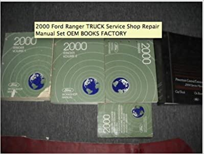 2000 ford ranger truck service shop repair manual set oem books factory 00  (2 volume set, electrical and vacuum wiring diagrams manual, and the  powertrain