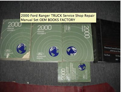 2000 Ford Ranger TRUCK Service Shop Repair Manual Set OEM BOOKS FACTORY 00 (2 volume set, electrical and vacuum wiring diagrams manual, and the powertrain control engine/emission diagnosis manual)
