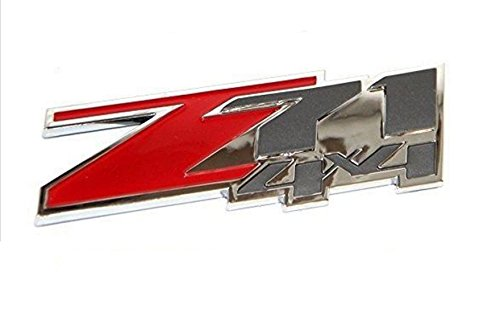 2pcs Red Color 3D z71 4x4 Chevrolet Silverado Emblem Badge ABS Logo Sticker For Chevy Silverado Sierra Plastic