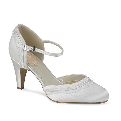 London de Parte de Paradox Satén zapatos dos ronda Ivory Toe Pink lujo de boda 1wzFZdqz