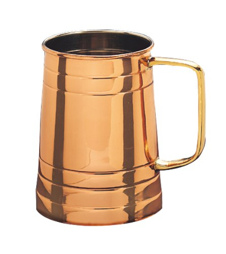 Old Dutch Solid Copper Beer Stein, 1 Pint