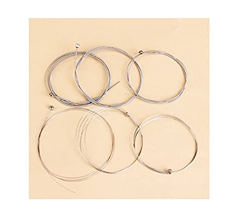 flowerkui guitarra eléctrica 150 x L calibre latón 0,009 pulgadas cuerdas de alambre de acero (
