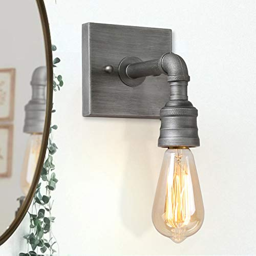 LALUZ Bathroom Vanity Lights Modern Wall Sconce with Silver Finish Water Pipe for Kitchen, Hallway, Corridor A03377,