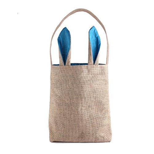 Dewel Creative Easter Gift Bag, Bunny Ears Design Easter Par