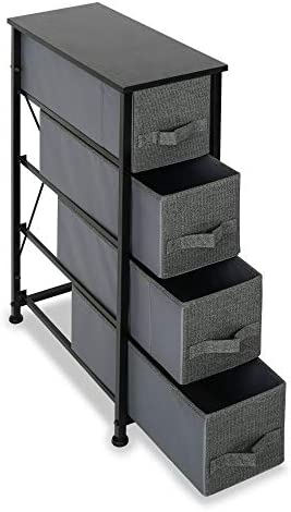 4 Drawer Fabric Dresser Storage Tower Organizer Unit