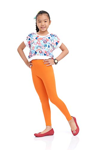 Nom Girls Legging Long Leg Variety of Colors Large Size Orange -