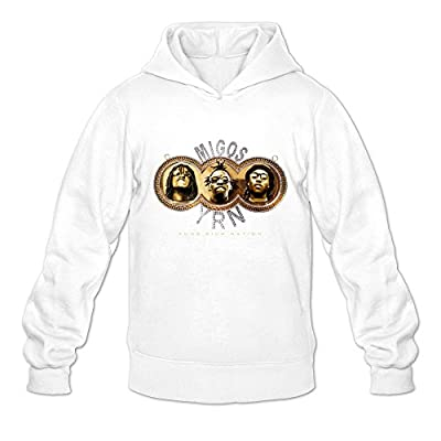 Yung Rich Nation Migos Ambom Long-Sleeve Hoodies For Men White