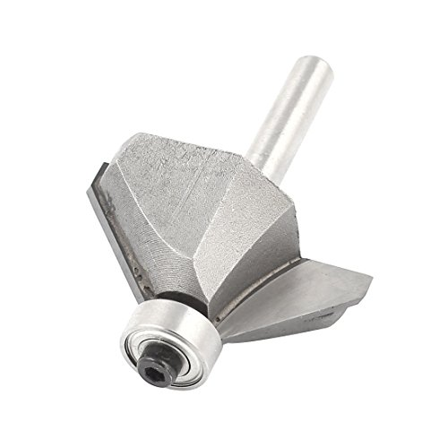 "Woodworking 1/4"" Straight Shank 45 Degree Chamfer Router Bit"