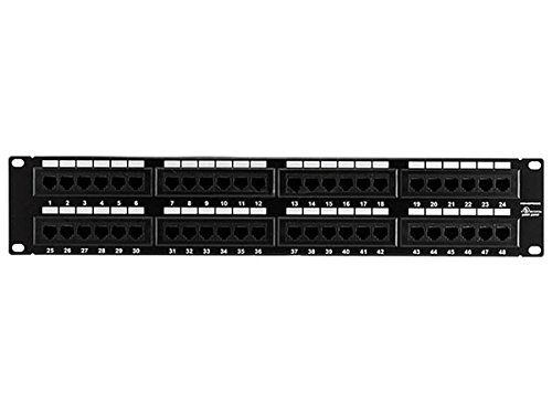 Monoprice 107306 Cat5 Enhanced 110 Type 48-Port (568A/B Compatible) Patch Panel