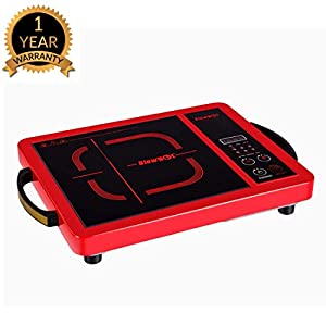 BLOWHOT 2000 Watt Feather Touch Induction Cook Top – 6 Months Warranty – (Red)