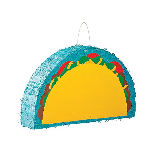 Fun Express - Taco Pinata for Cinco de Mayo - Party Decor - General Decor - Pinatas - Cinco de Mayo - 1 -