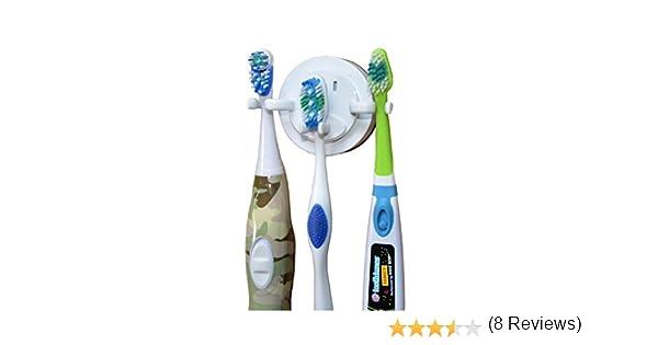 Natural Life Soporte para cepillo eléctrico de dientes, la ventosa de gran capacidad soporta 3 cepillos: Amazon.es: Hogar