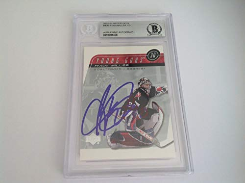 (Ryan Miller Autographed Signed Memorabilia Ud Upper Deck Young Guns Card Rc - Beckett Authentic)