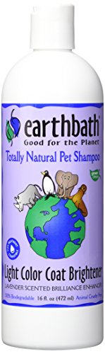 Earthbath All Natural Light Color Coat Brightener Shampoo, (White Coat Shampoo)