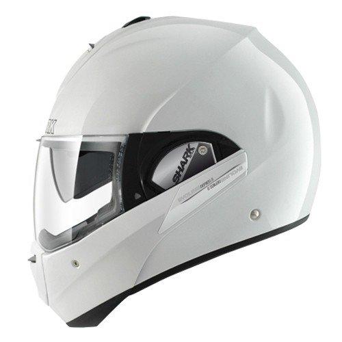 SHARK Evoline Series 3 Fusion Motorcycle Helmet, White, Size S
