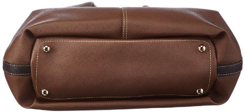 Bogner Leather Lilly 1113695 - Bolso de asas de lona para mujer Marrón (Braun (deer 003))