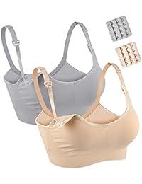 2b7752e18a Seamless Nursing Maternity Bra for Women Breastfeeding Wireless Sleep Bra  Plus Size Full Cup