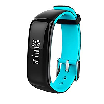 Bluetooth Fitness Tracker, Heart Rate Monitor, Smart Fitness Band Activity Tracker Waterproof Bracelet Wristband Pedometer Calorie Counter Sleeping Watch for IOS & Android