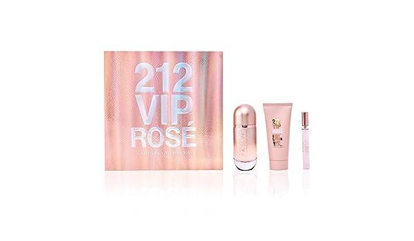 Carolina Herrera 212 Vip Rosé Set de Regalo - 3 Unidades: Amazon.es: Belleza