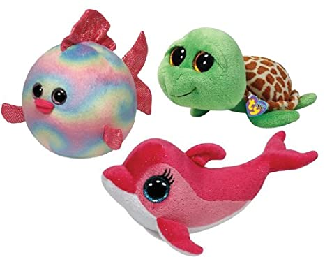 914c1f9bf0a Image Unavailable. Image not available for. Color  Ty Beanie Boos Pink Surf  Dolphin ...