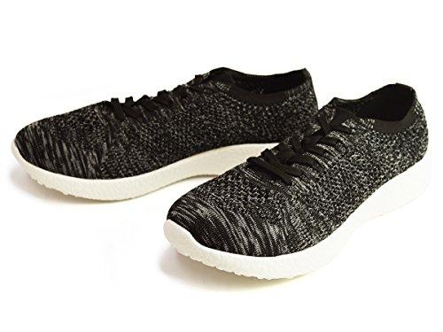(ジーノ) ZEENO スニーカー 編み込み メッシュ メンズ メッシュ ニット シューズ レースアップ 靴 軽量 通気性