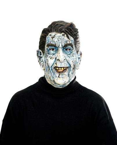 Mask Reagan (Paper Magic Men's Zombie Presidents Ron Of The Dead Mask, Nude, One)
