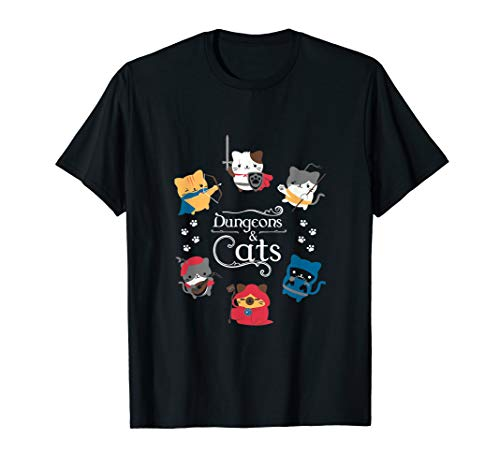 Dragon Fire In The Dungeons T Shirts Dungeons and Cats