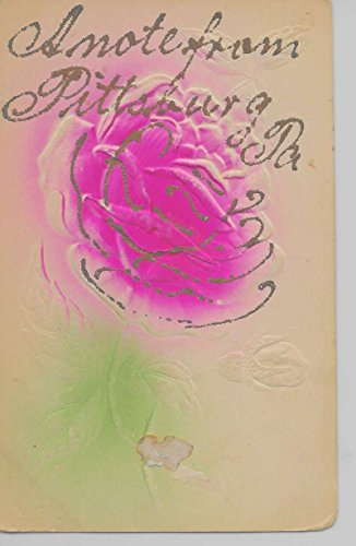 (Pittsburg Pennsylvania A Note From flower glittered antique pc Z24030)