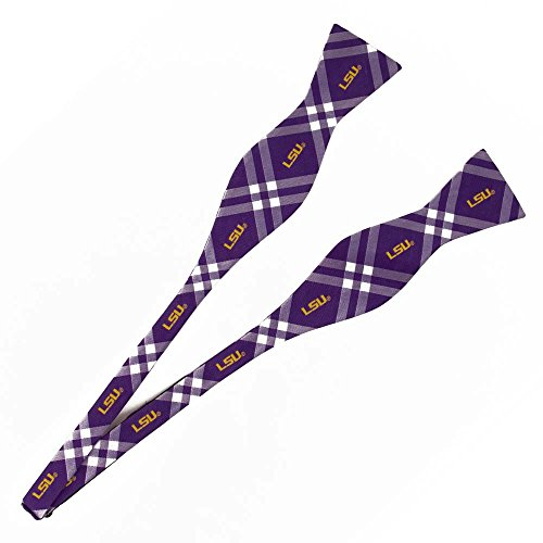 LSU Tigers Self Tie Rhodes Bow Tie - Eagles Wings (Lsu Ties Neck)