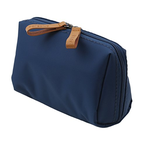 Rurah Shell Cosmetic Bag Fashionable Semi-circle Shell Clutch Mini Travel Cosmetic Bag Makeup Bag,blue - Simple Semi Circle
