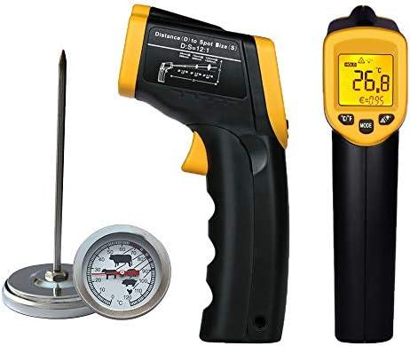 Pistola termómetro infrarroja – sonda de temperatura de emisividad ...