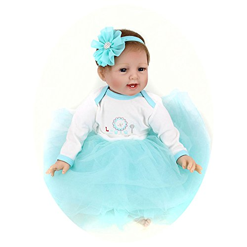 Silicone Reborn Babies Girl Full Body Newborn Real Life B...